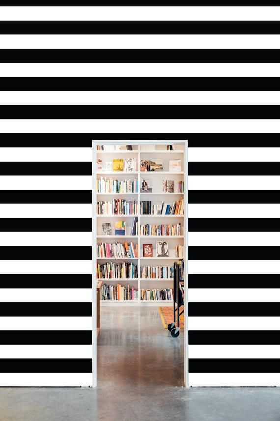 Black And White Horizontal Striped Removable Wallpaper Etsy In 2020 Stripe Removable Wallpaper Removable Wallpaper Horizontal Stripe