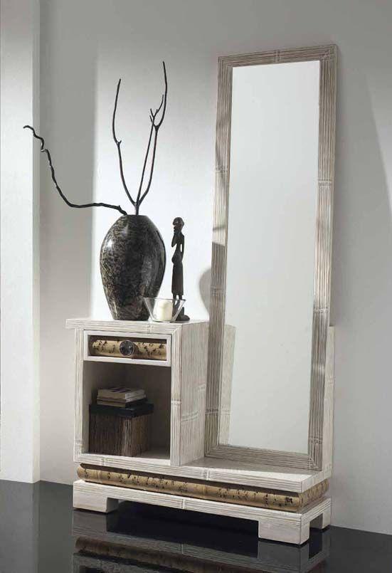 Entraditas con espejo de bamb sha decoracion beltran tu - Decoracion para recibidores ...