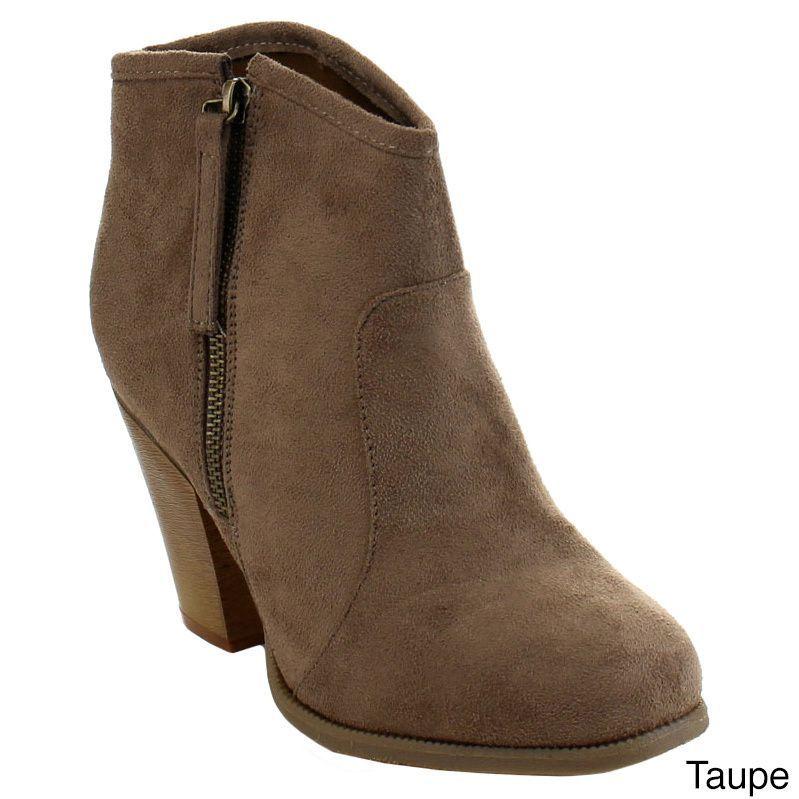 5e63ec408a9e Liliana Romane-1 Women s Chunky Heel Riding Ankle Booties