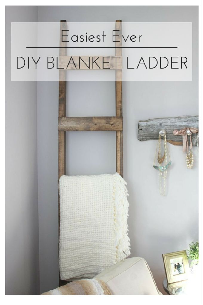 The Easiest Ever DIY Blanket Ladder {A Guest Post for AKA ...