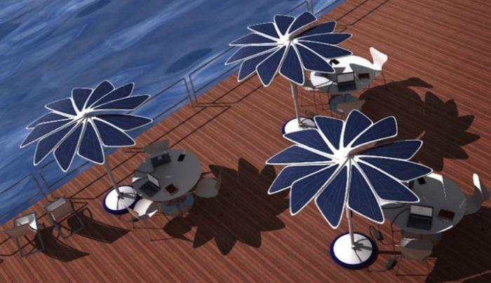 The Solaris Sun Shade Is A Solar Powered Umbrella Concept
