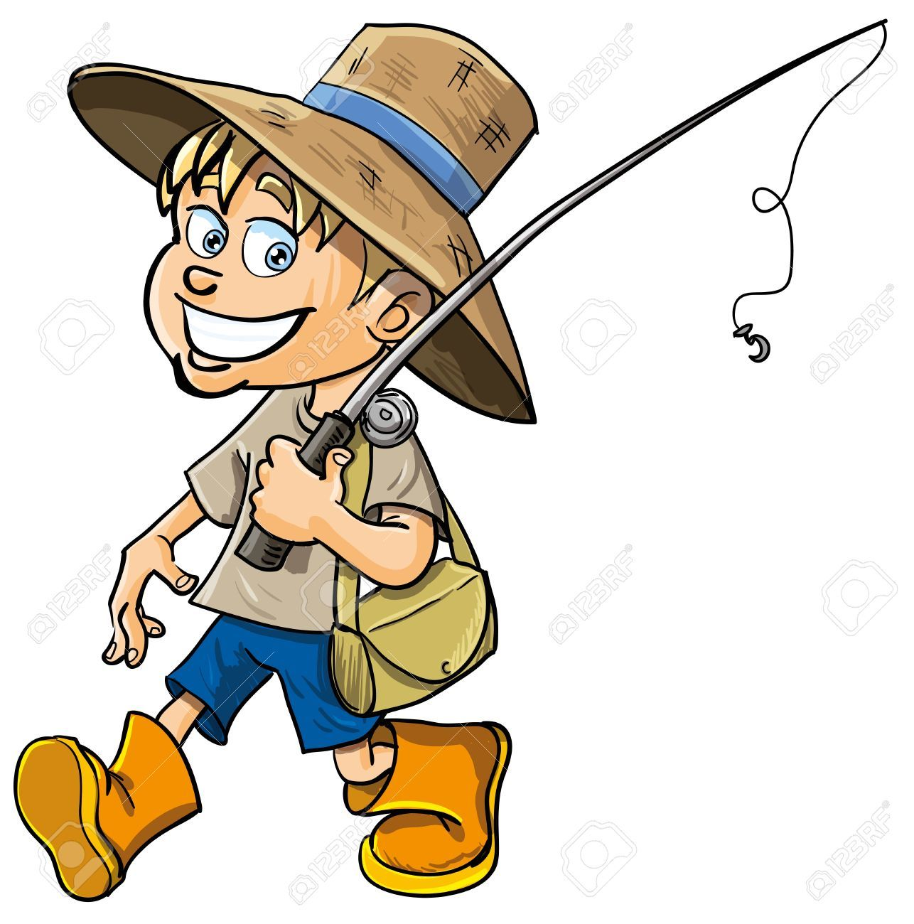 Funny Cartoon Fisherman Cartoon Funny Cartoon Cute Pictures