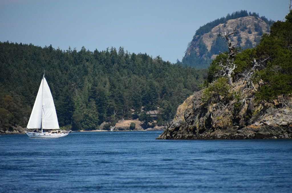 Sailing West Into Wasp Passage By Passing Cone Island