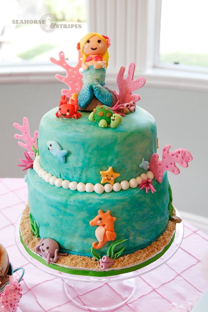 Mermaid Cake by Catias Cakes San Diego CA Found on Seahorse