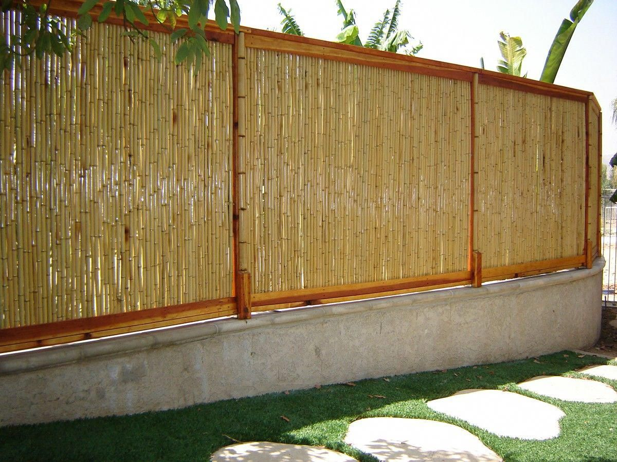 Natural Bamboo Fence 1 D X 4 H X 8 L Bamboo Fence Fence