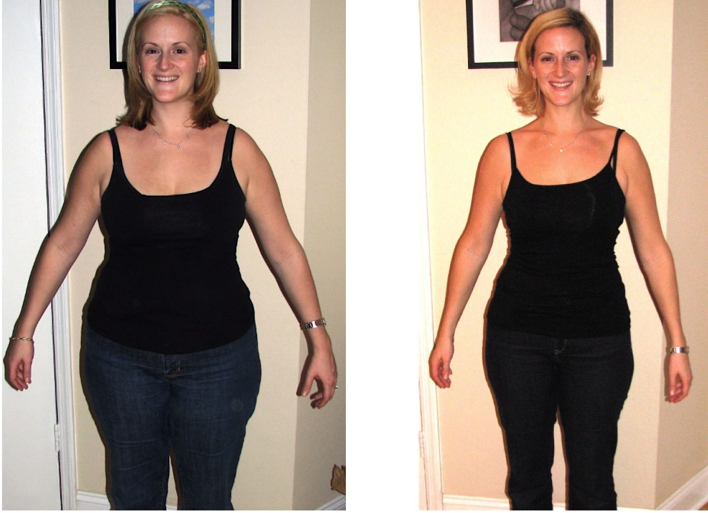 arm fat loss before and after
