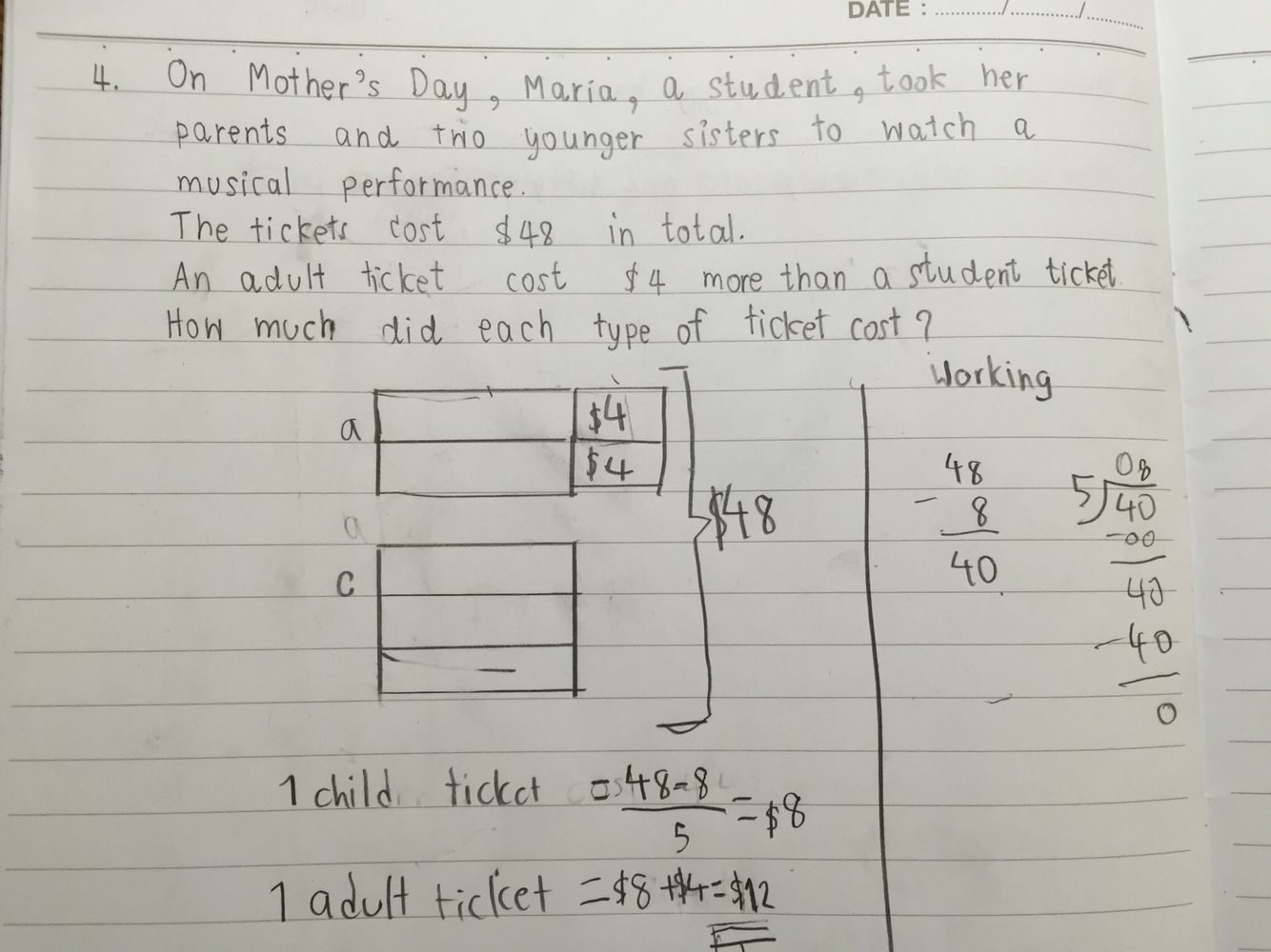 P3 word problem solving : Money Bar Model | Singapore Math ...
