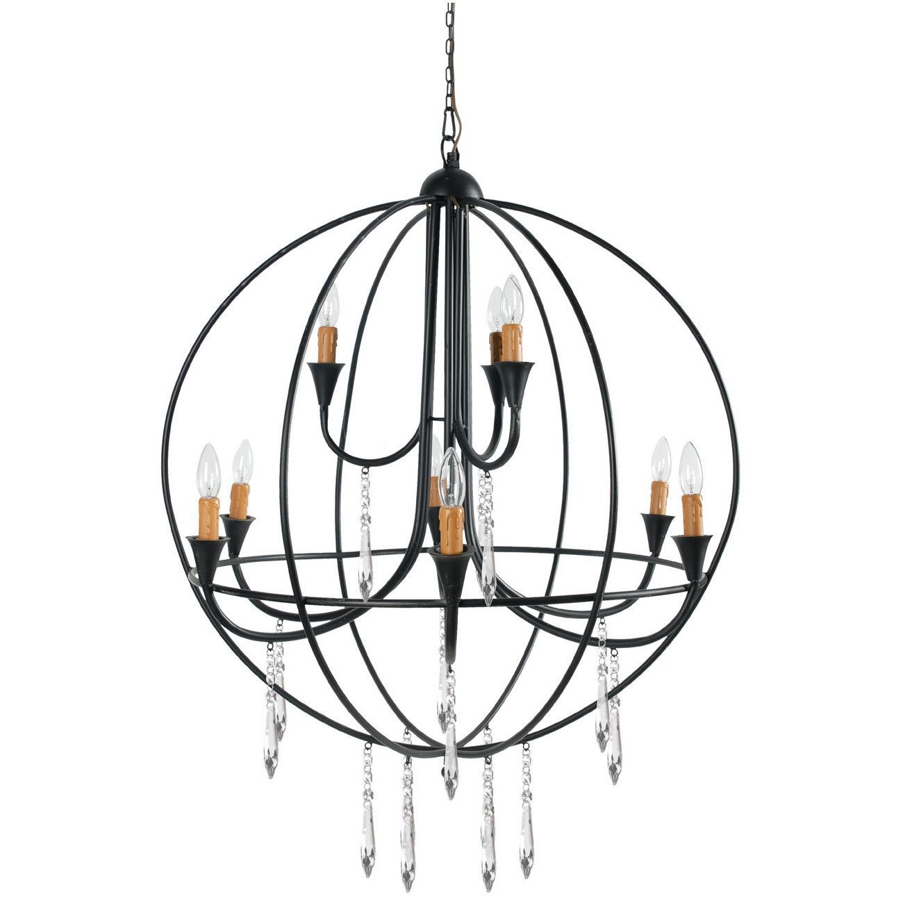 A B Home Ballard 9 Light Chandelier Black Chandelier Candle Style Chandelier A B Home