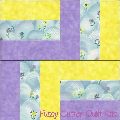 Easter Spring Flowers Baby Fabric Easy Pre Cut Quilt