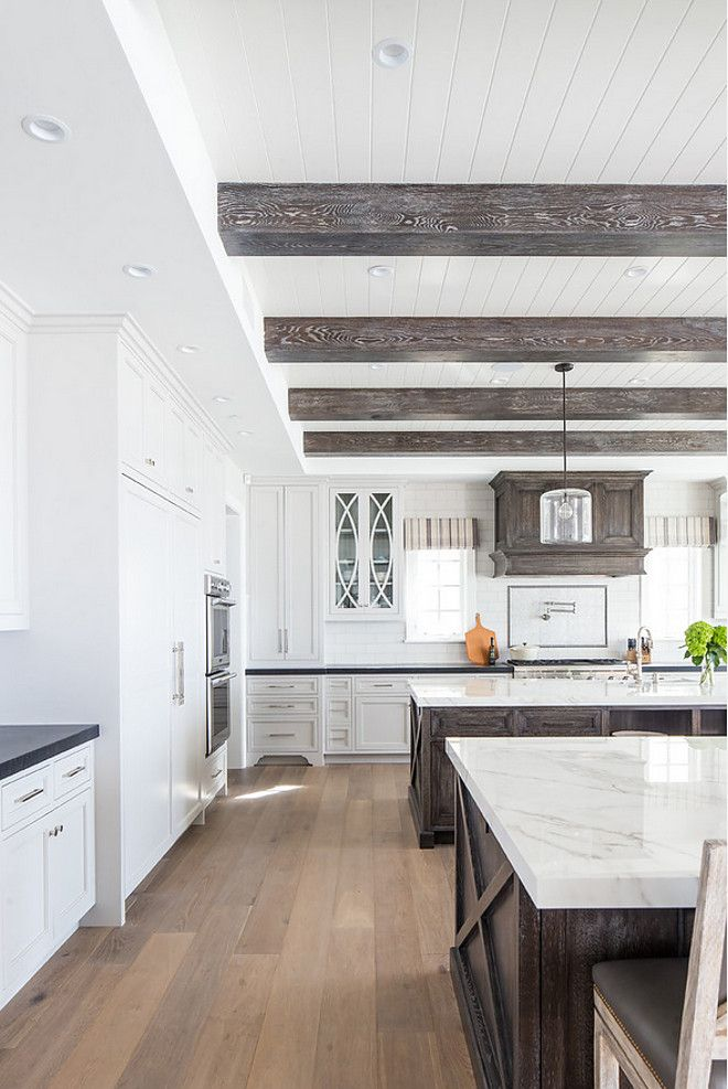 Tongue And Groove And Beams Kitchen Ceiling Features