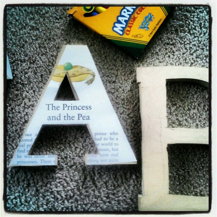 Story Book Letters For Reading Classroom Walls