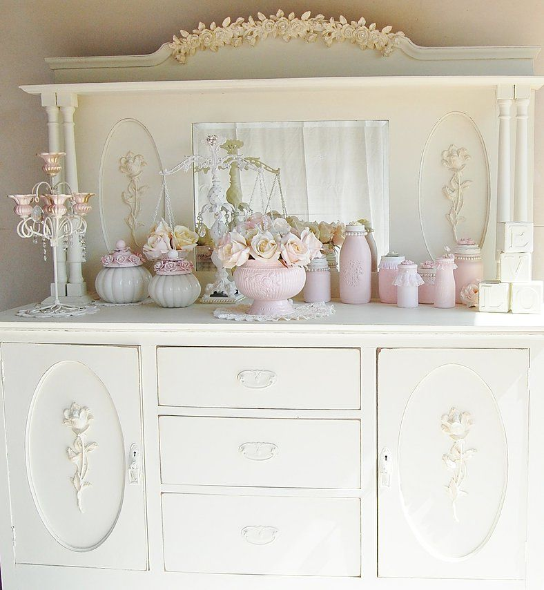 50 Cool And Creative Shabby Chic Dining Rooms: Shabby Chic Dresser, Shabby Chic