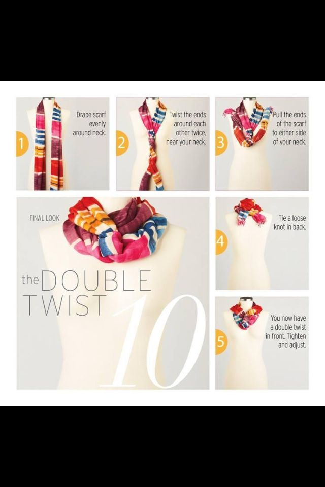 Scarf tying double twist - double the fun, change your look with ...