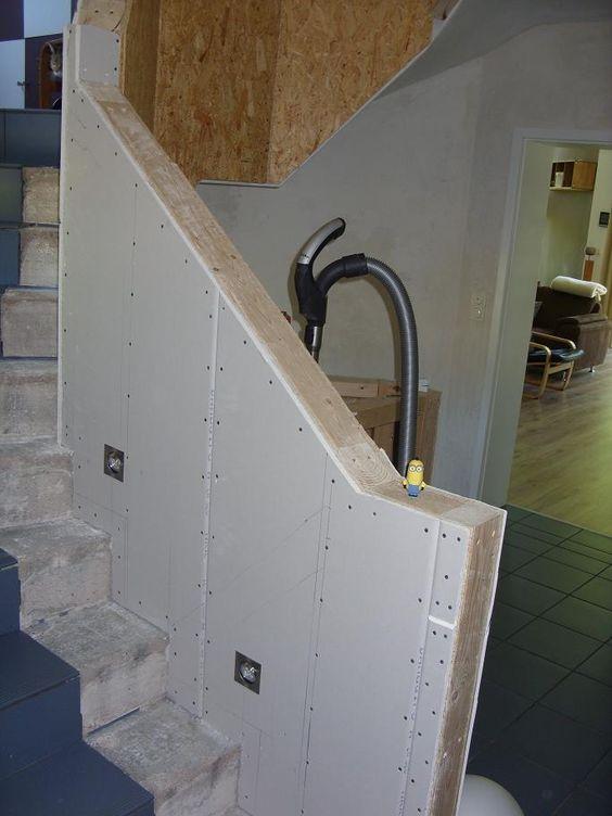 Treppenhausgeländer/brüstung in Trockenbauweise