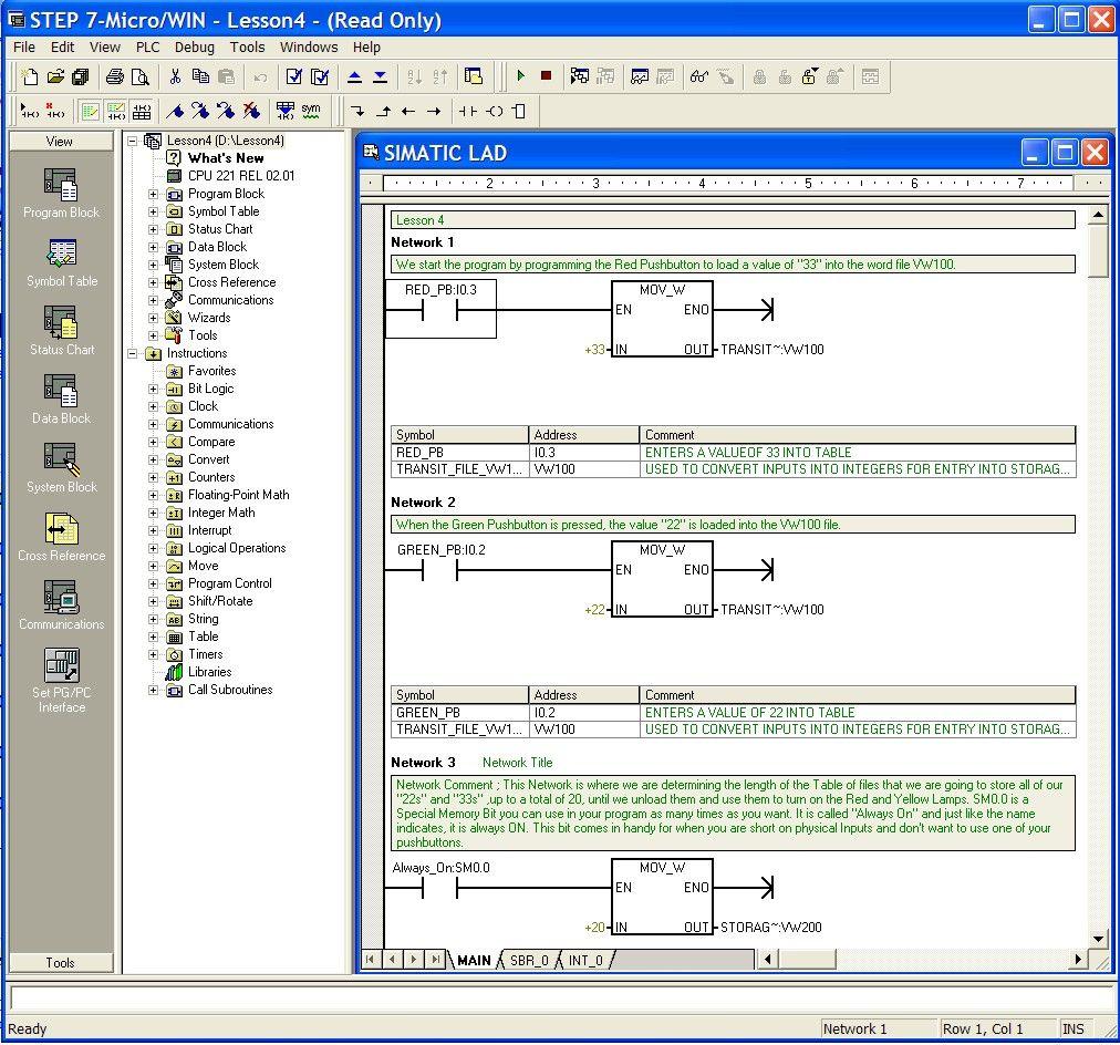 Siemens Simatic Plc Step7 Programing Example Plc