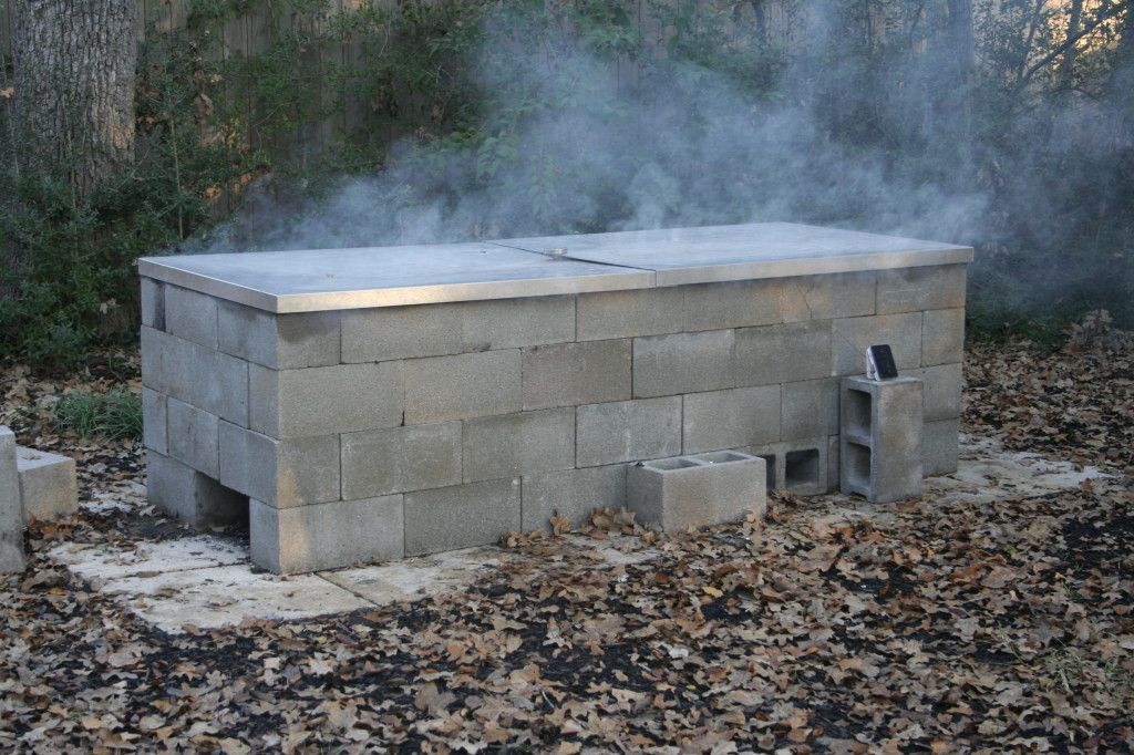 Anatomy Of A Cinder Block Pit Texas Barbecue Backyard Bbq Pit Cinder Block Fire Pit Brick Fire Pit