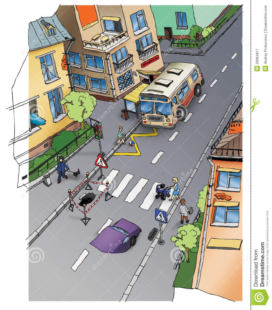 Drawing Subject Road Safety Traffic City Street