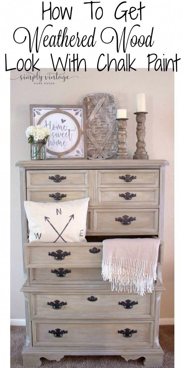 Photo of How to Get A Weathered Wood Look With Paint – Simply Vintage Creations