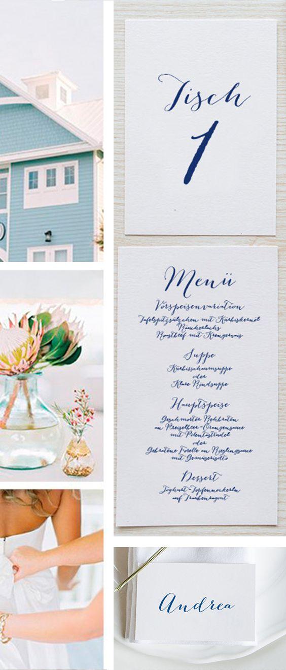 menükarten #elegant #edel #kalligrafie #Hochzeitskarten ...