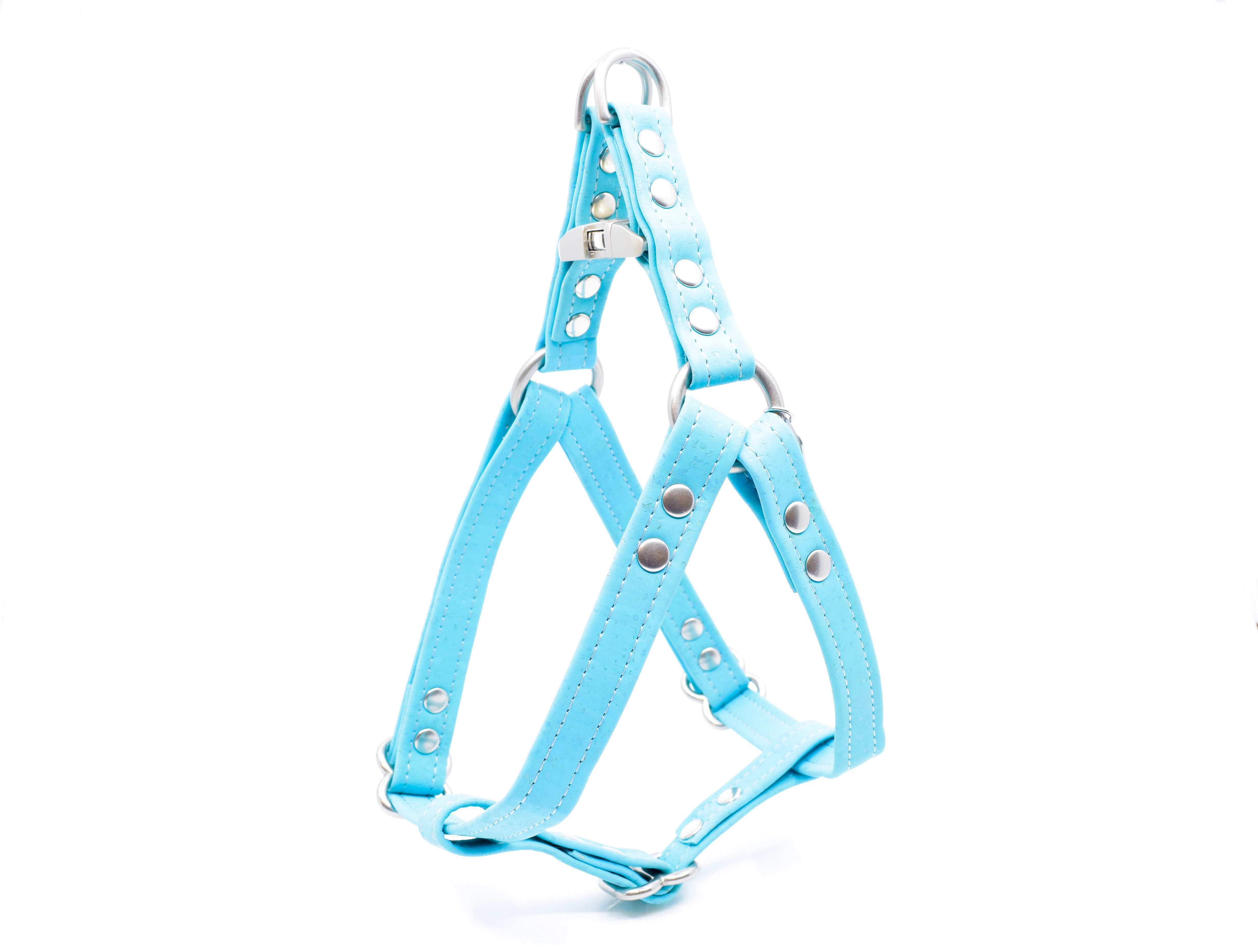 Turquoise Cork Dog Harness Dog Harness Dog Accessories Turquoise