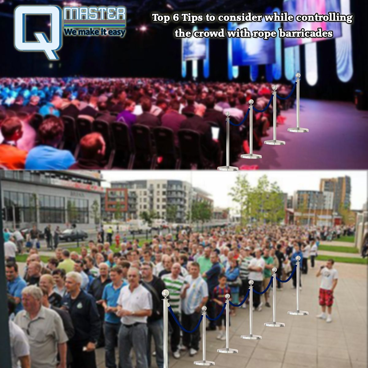 Top 6 Tips to consider while controlling the crowd with