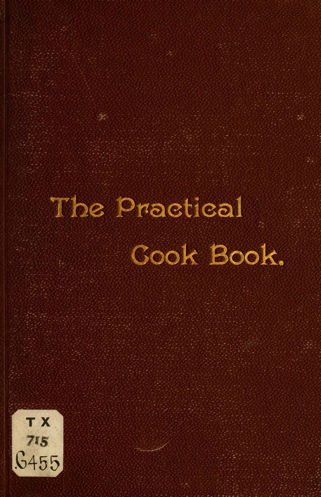"""""""The Practical Cook Book"""" 