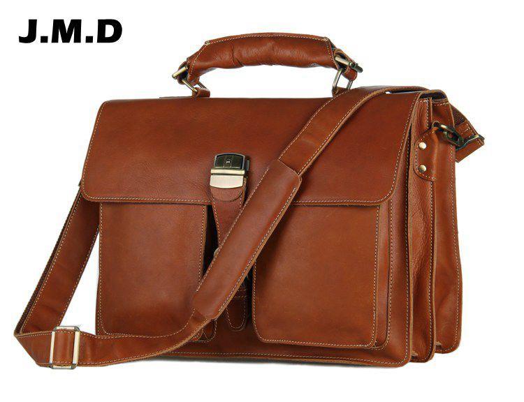 $243.00 (Buy here: http://appdeal.ru/f1ku ) JMD Vintage Style Men's Briefcase Laptop Handbags Messenger Bag 7164B free shipping for just $243.00