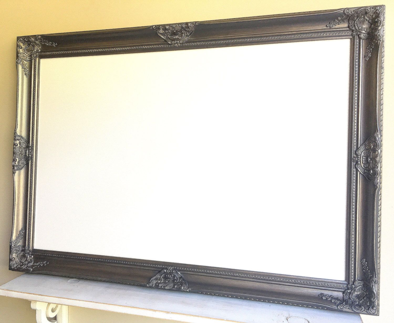 Framed Dry Erase Board Large Whiteboard Silver Dry Erase Board Brushed Nickel Kitchen Dry