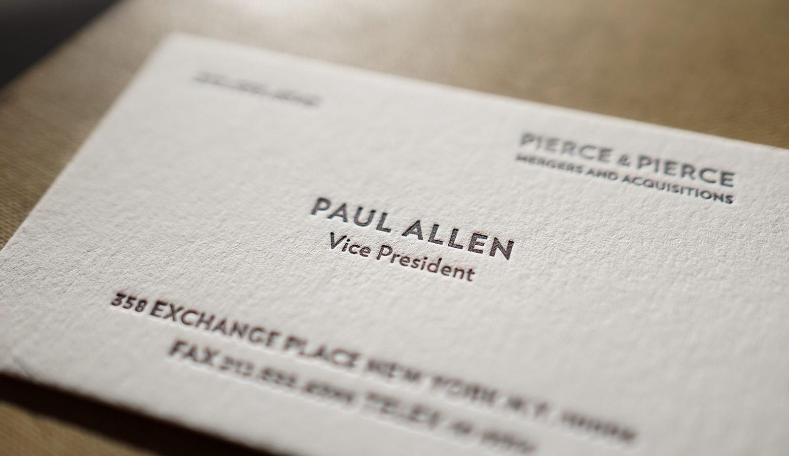 The Better Paul Allen Calling Card Literature Business In Paul Allen Business Card Templat Business Card Fonts Classic Business Card Business Card Template