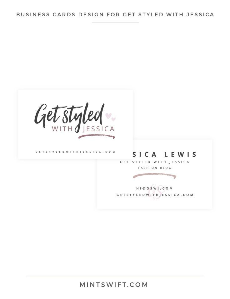 Brand Design for Get Styled with Jessica is part of Business card design, Branding design, Portfolio website design, Logo design tips, Branding design logo, Branding design packaging - Go behind the scenes of the brand design for Get Styled with Jessica  See the process of creating a brand identity & collaterals in the portfolio blog post