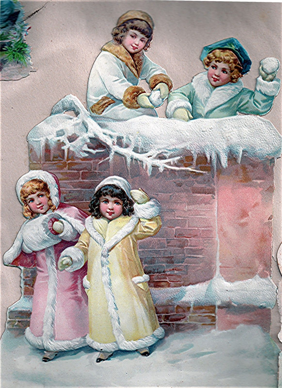 Victorian E Cards Hearty Victorian Greetings Winter Pinterest