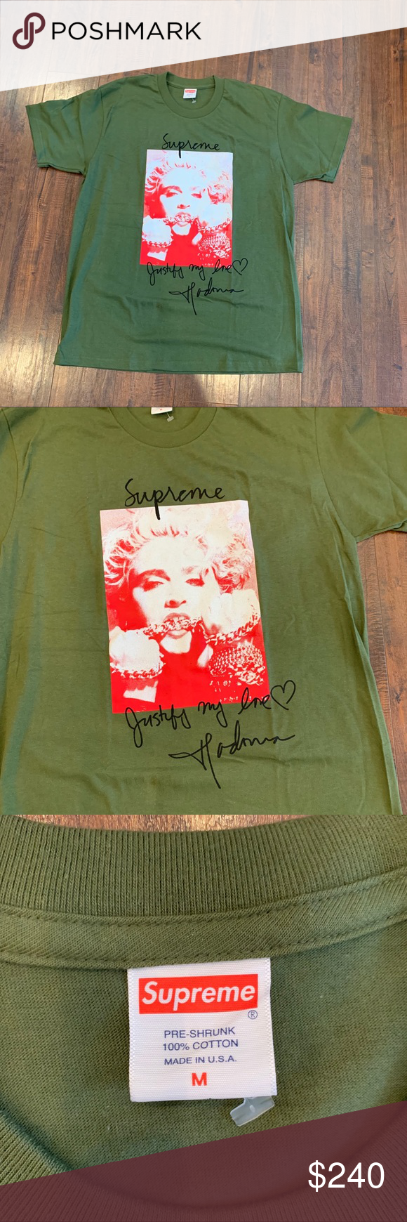 68d29a4488c2 Supreme Madonna tee! Rare olive green color! Supreme Madonna tee! Rare! Sold