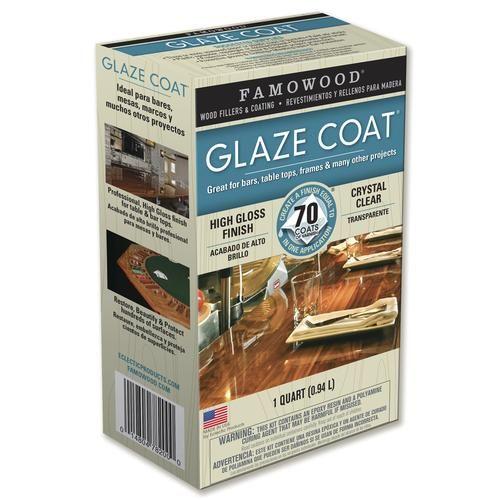 Famo Glaze Coat Clear Epoxy Kit Quart At Menards Famowood Glaze