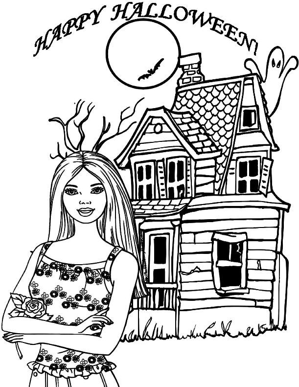 Barbie Halloween Coloring Pages Rhpinterest: Barbie Halloween Coloring Pages At Baymontmadison.com