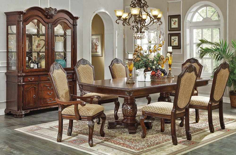 Chateau Classic Dining Table Collection Appx $2,700 w hutch and ext