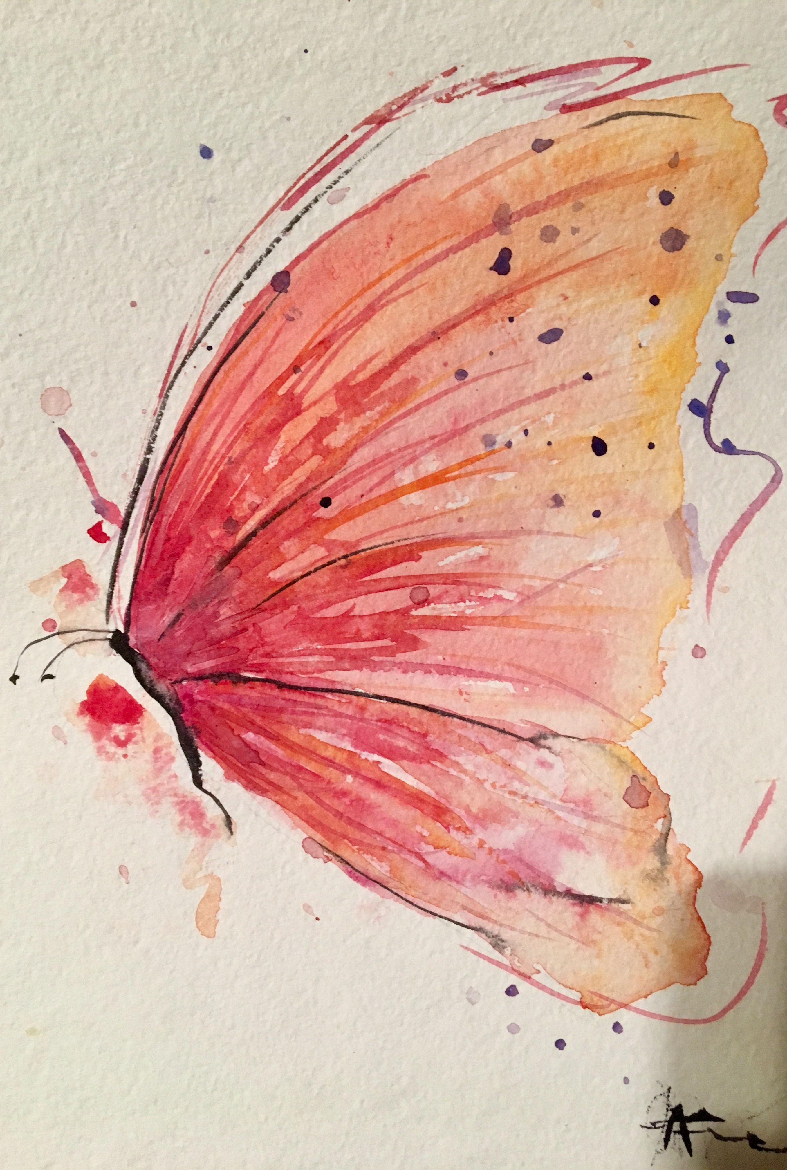 Watercolor Mariposa Butterfly Watercolor Watercolor Art Watercolor Paintings For Beginners