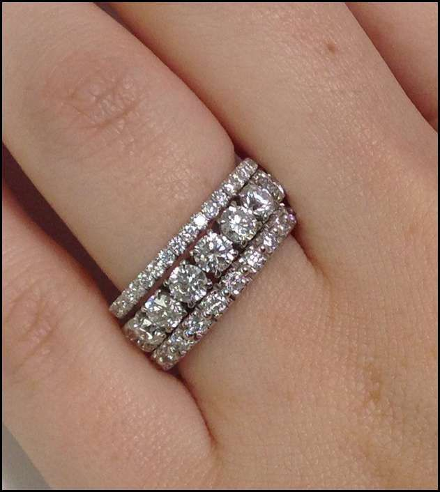 Stacked Wedding Bands Pinterest Ring Jewelry Trends