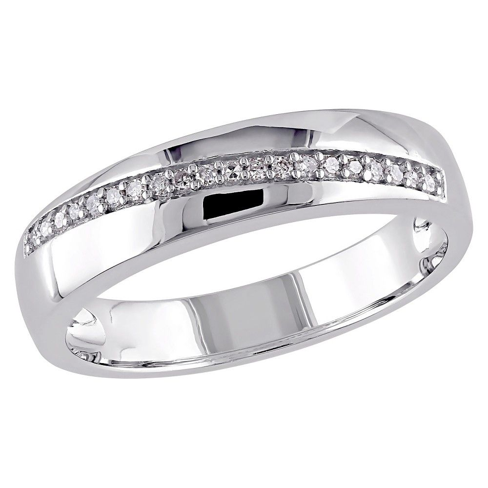 1//10 cttw, G-H,I2-I3 Size-9 Diamond Wedding Band in Sterling Silver
