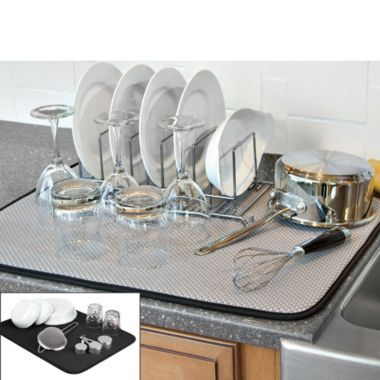 The Original Xl Dual Dish Drying Mat Bedbathandbeyond Com Dish Drying Mat Kitchen Refresh Kitchen Dishes