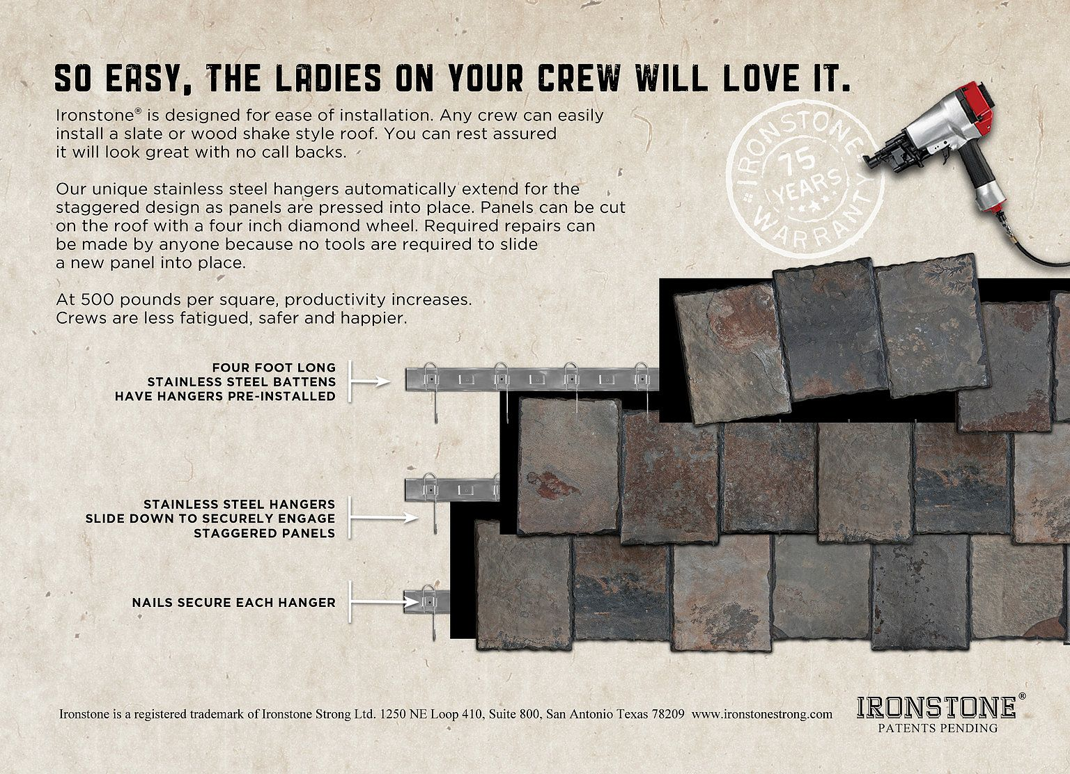 Our Hanger System Is Unlike Any Other Quick Easy Install Everyone On Your Crew Will Love Putting An Ironstone Roo Wood Shakes Traditional Ceramics Ironstone