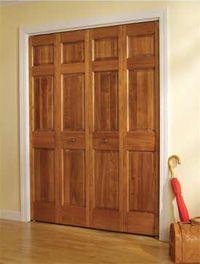 closet door options CraftMaster Panel Radiata Pine Wood Bifold Closet Door & closet door options CraftMaster Panel Radiata Pine Wood Bifold ...