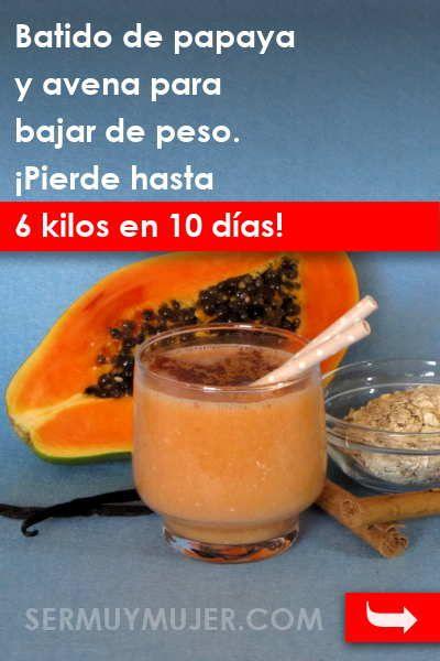 bebida de papaya para adelgazar