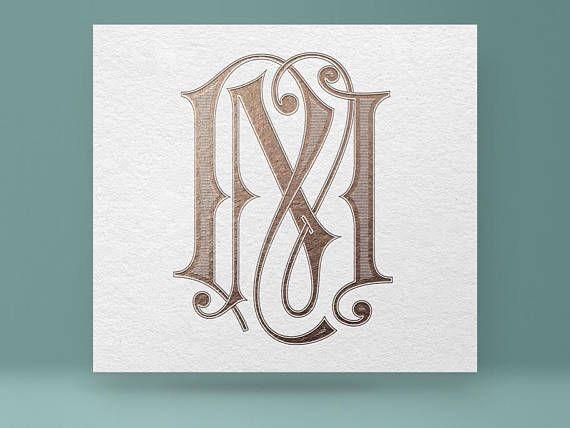 digital monogram nm mn wedding monogram initials wedding logo this listing is for a print ready high resolution digital monogram for your wedding