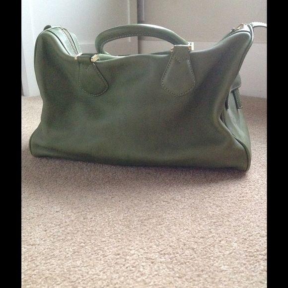 J.Crew leather handbag J.Crew green leather handbag J. Crew Bags