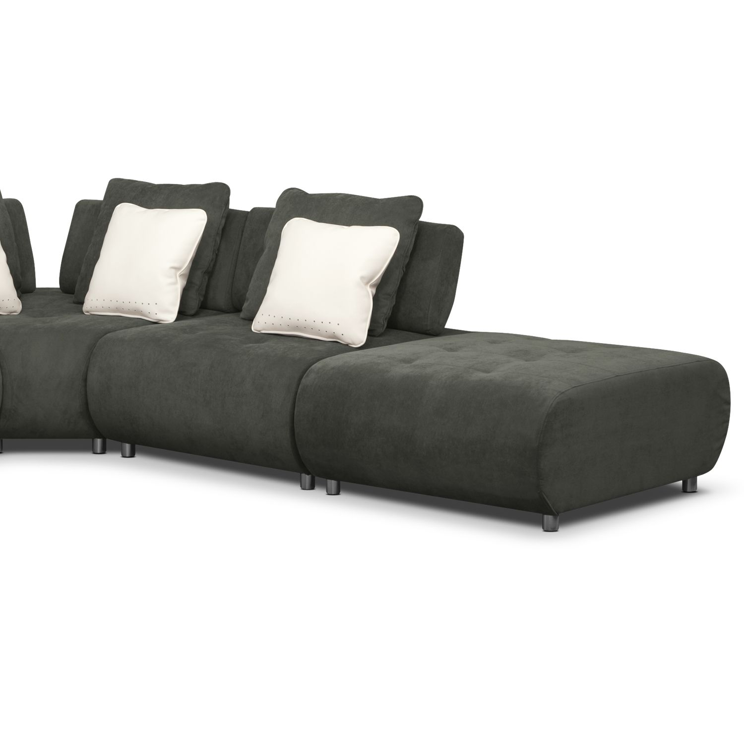 picture of Cindy Crawford Home Barton Springs Gray 6 Pc Sectional