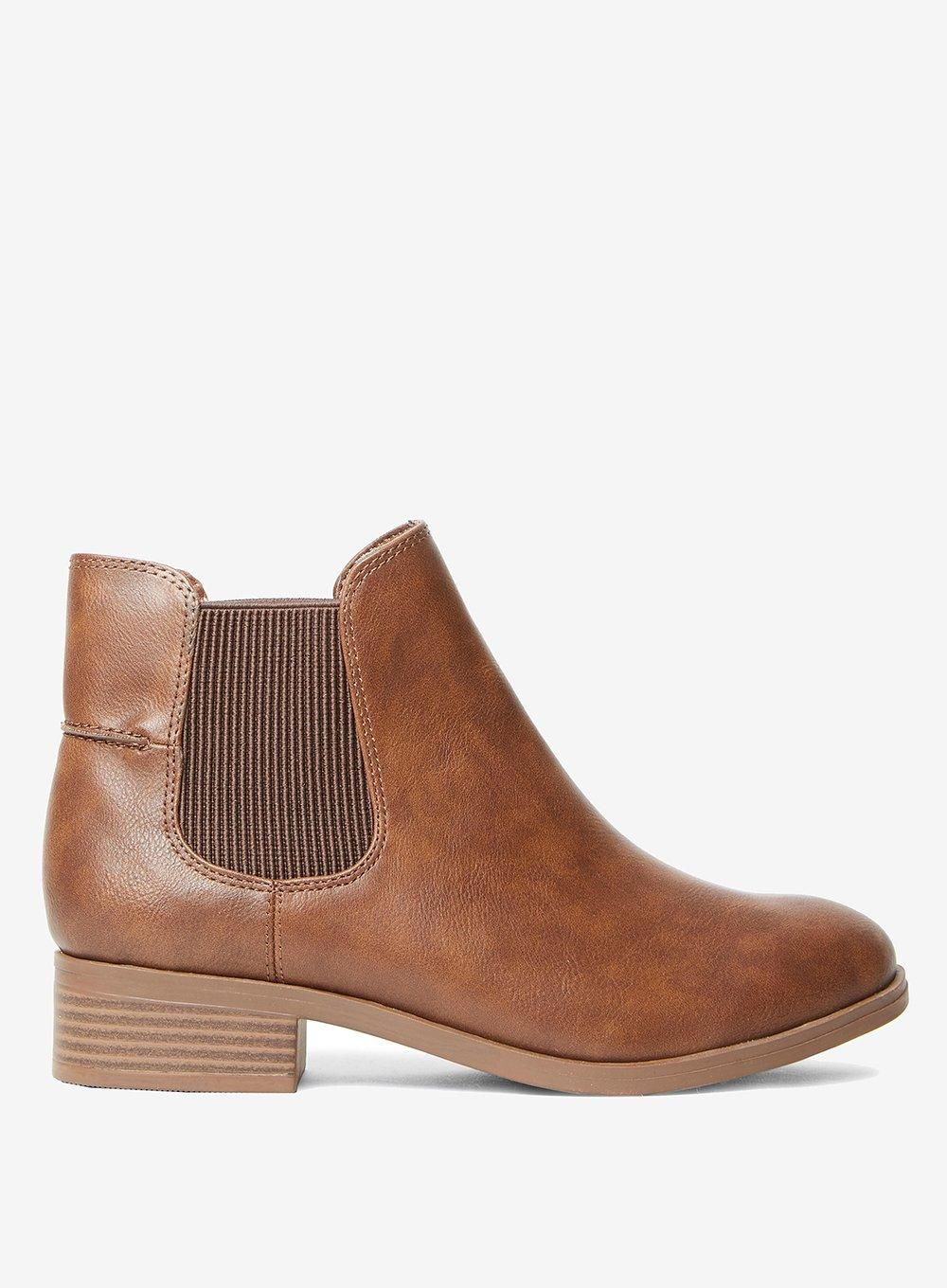 Wide Fit Tan 'Monty' Ankle Boots in