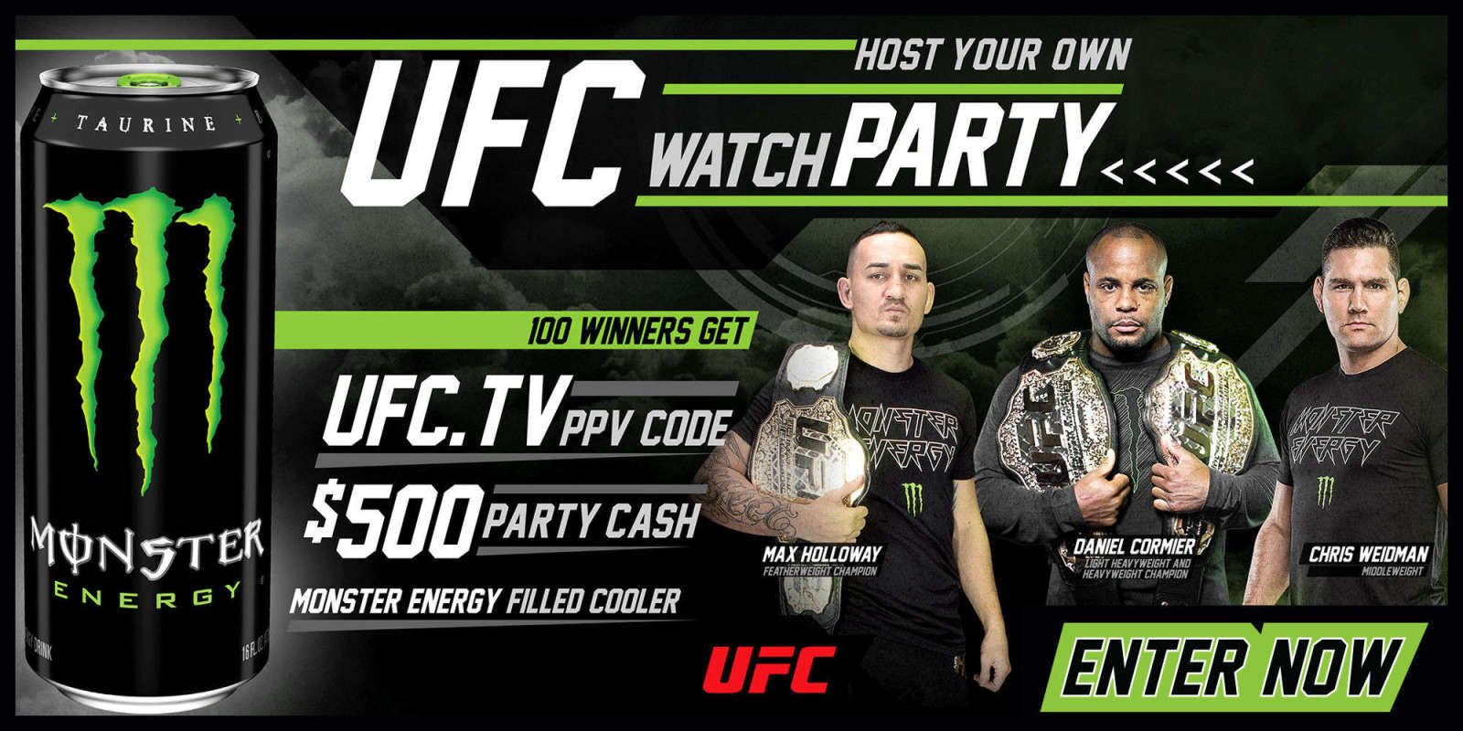 Host your own ufc watch party with monster energy