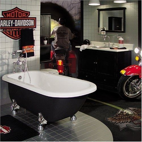Man Cave Bathroom Colors: Harley Davidson Bathroom Theme