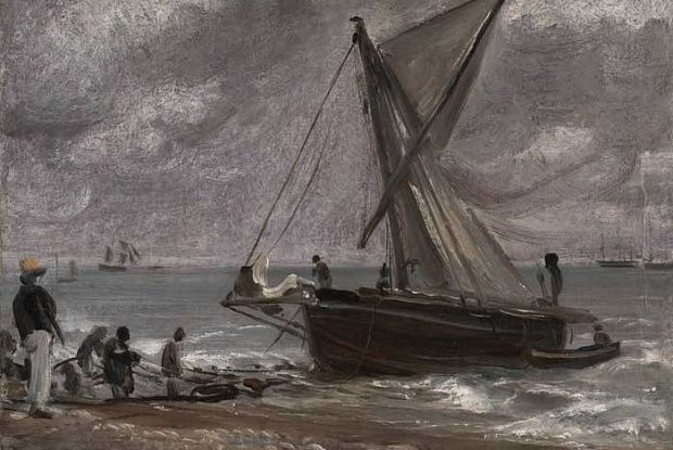John Constable, Beaching a Boat, Brighton, 1824 © Tate London 2014. Looted Constable returned by Tate heads to auction at Christie's.