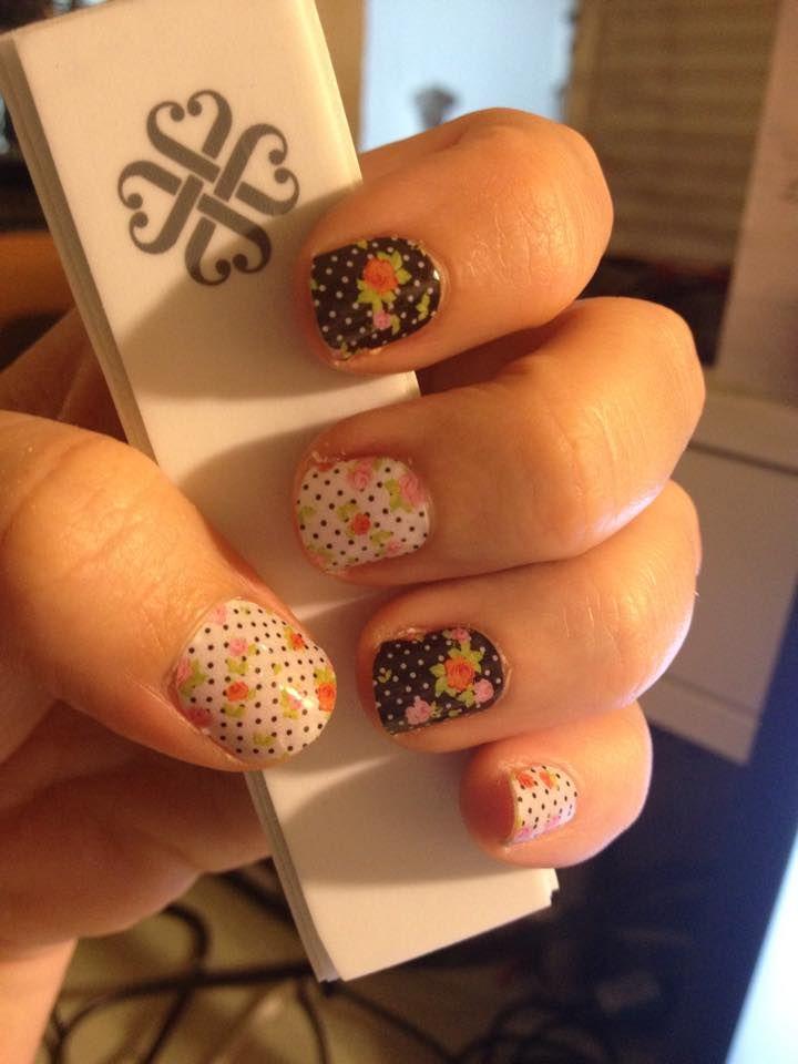 Love my Cup of Tea Jamberry nail wraps!!  jennieg.jamberrynails.net